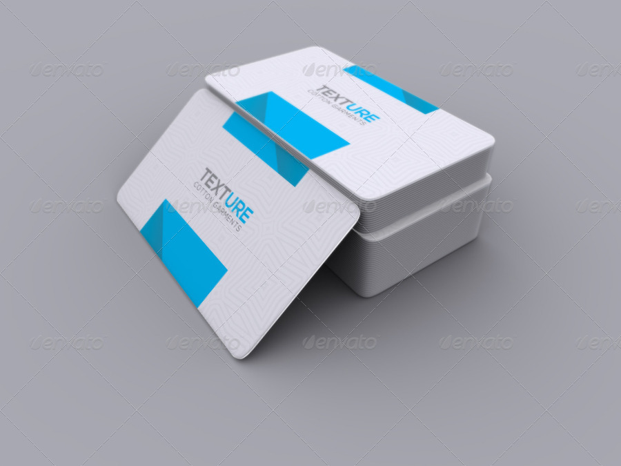 Realistic Round Corner Business Card Mock up by axnorpix