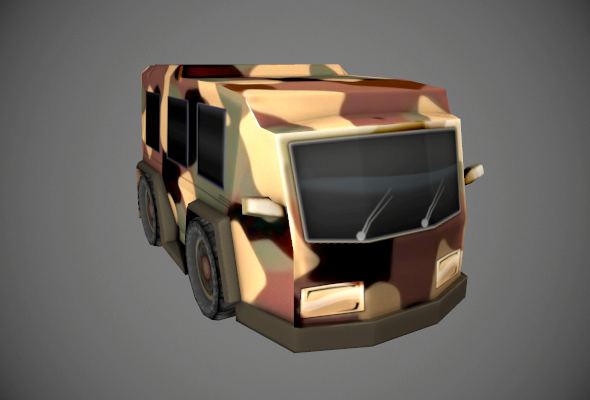 Armored Van - 3DOcean Item for Sale