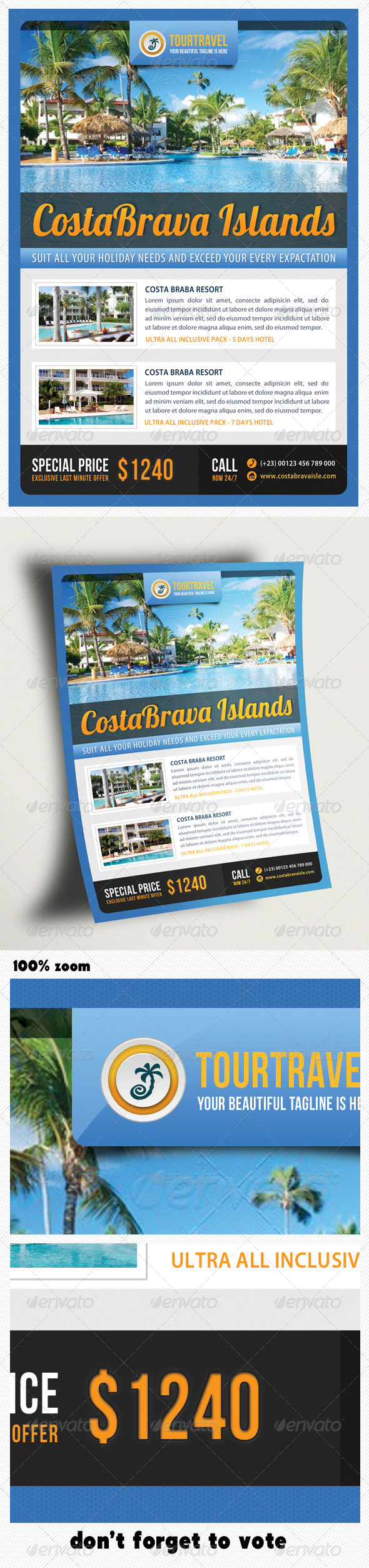 GraphicRiver Travel Agency Corporate Flyer 05 6638567