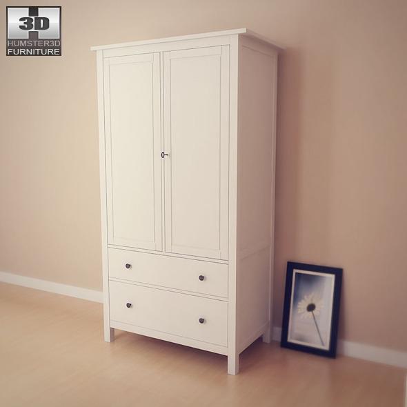ikea hemnes wardrobe 3d model by humster3d 3docean. Black Bedroom Furniture Sets. Home Design Ideas