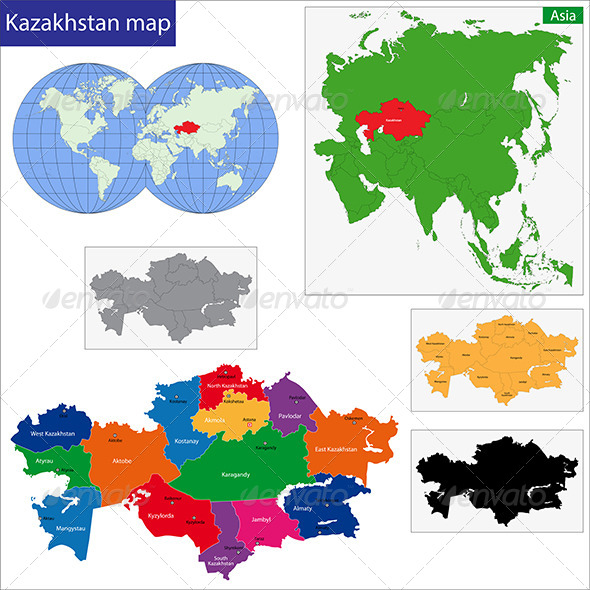 GraphicRiver Kazakhstan Map 6638667