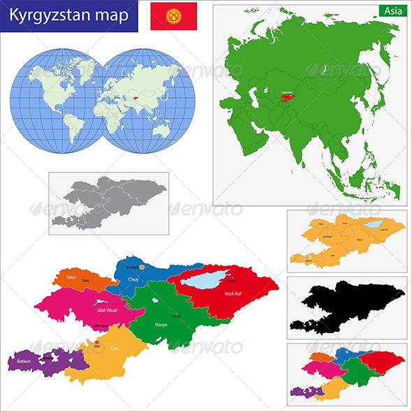 GraphicRiver Kyrgyzstan Map 6638816