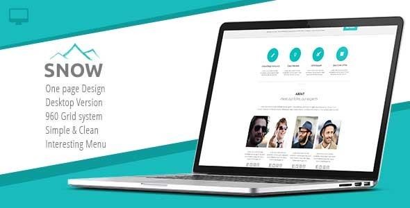 Snow - Premium Single Page Template