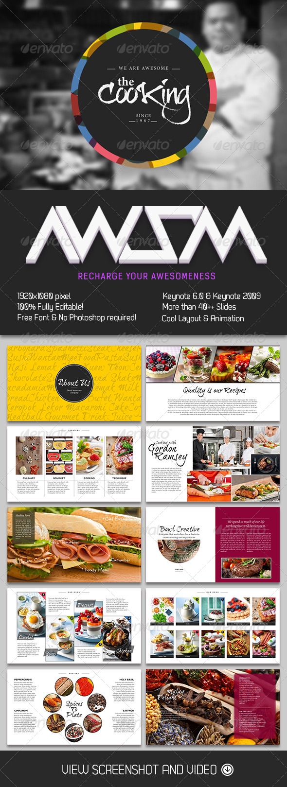 GraphicRiver Cooking Master Keynote Template 6638931