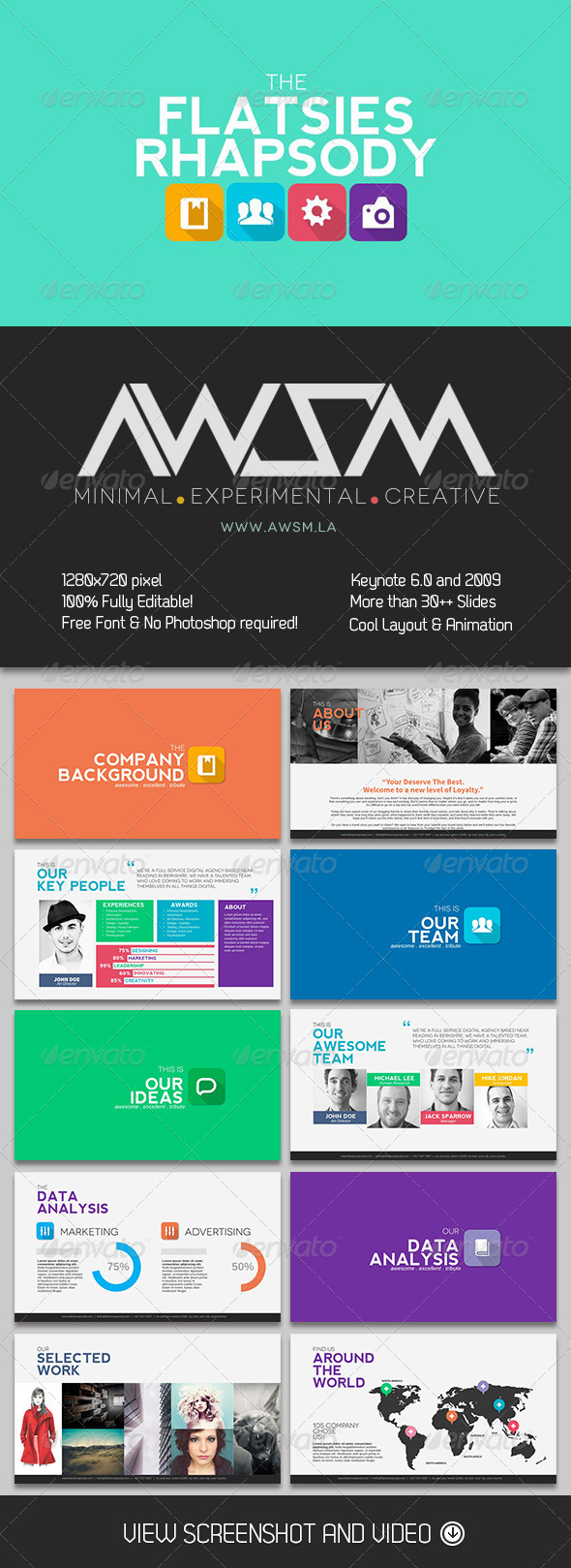 GraphicRiver Flatsies Rhapsody Keynote Template 6638981