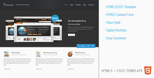Francis - HTML5 CSS3 Template - ThemeForest