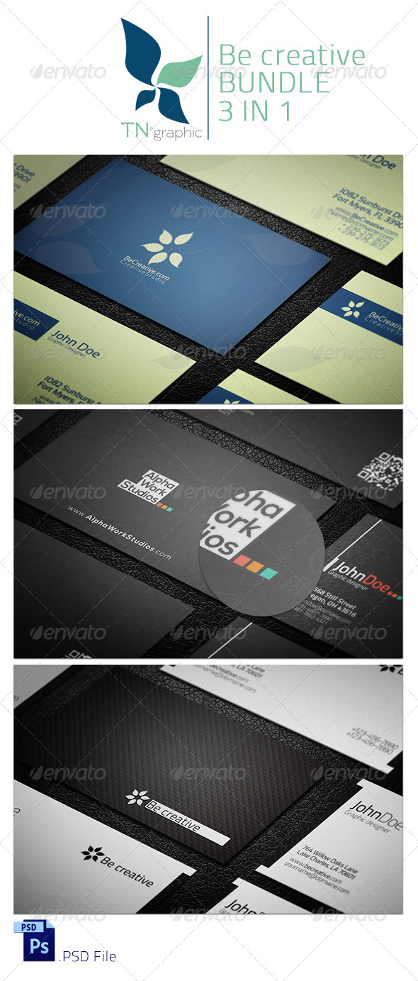 GraphicRiver BeCreative 3 in 1 Bundle 6639153
