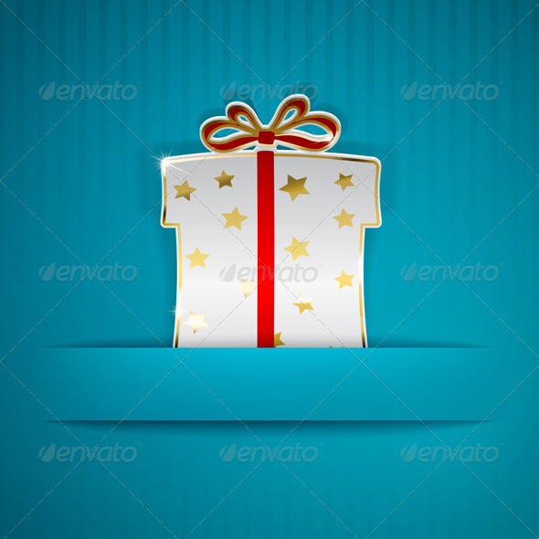 GraphicRiver Gift Box Cut Out of Paper 6639438