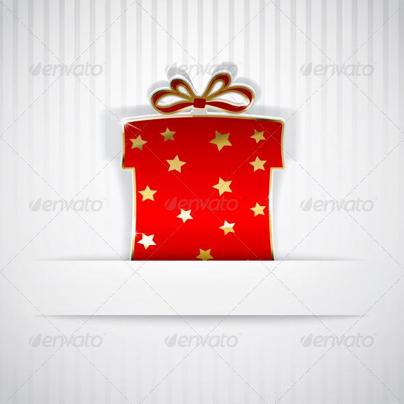 GraphicRiver Gift Box Cut Out of Paper 6639505