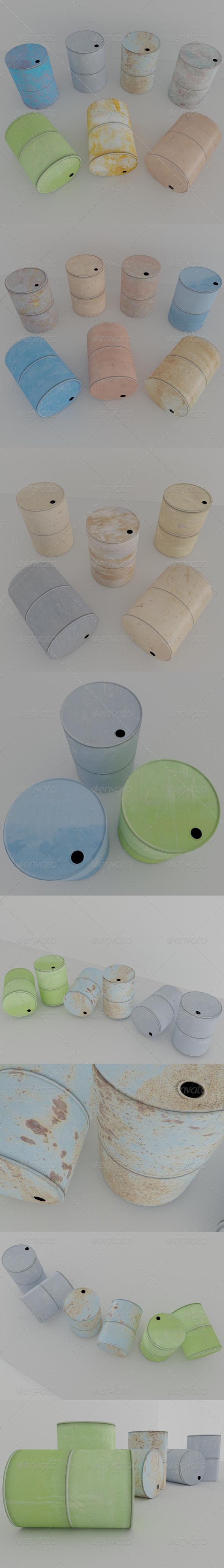 Metal Barrel - 3DOcean Item for Sale