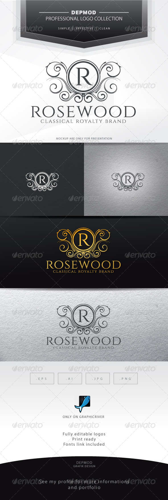 GraphicRiver Rosewood Logo 6639587