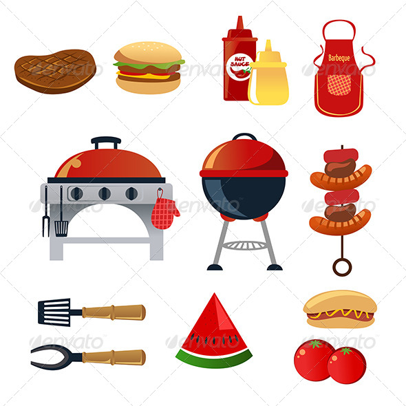 GraphicRiver Barbeque Icons 6640645