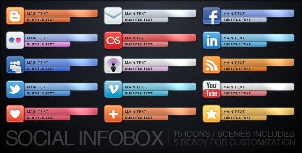 After Effects Project - VideoHive Social Infobox 677539
