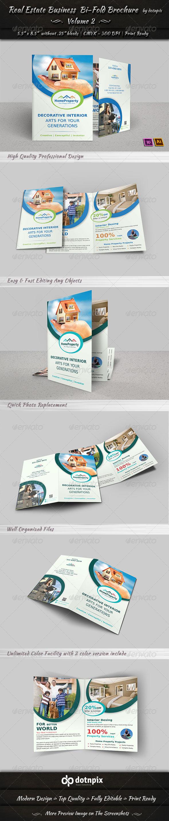 GraphicRiver Real Estate Business Bi-Fold Brochure Volume 2 6641120