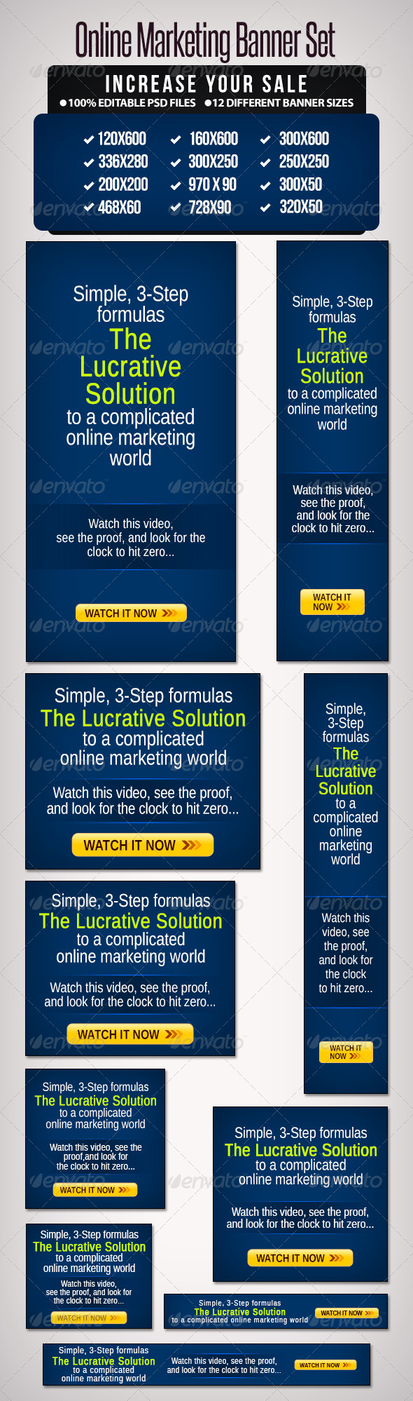 GraphicRiver Online Marketing Banner Set 6641172