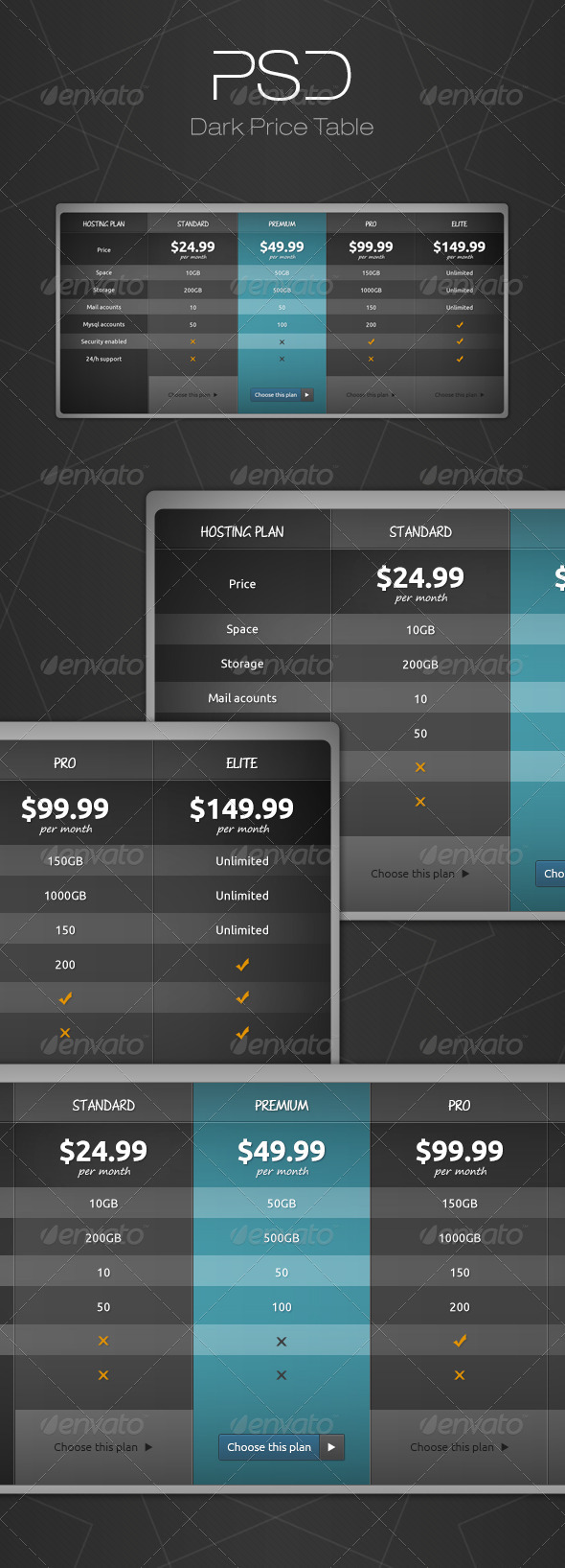 GraphicRiver Dark Price Table 6641331
