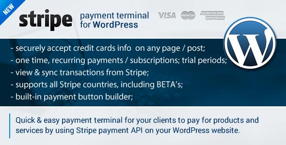 CodeCanyon Stripe Payment Terminal Wordpress 6641586