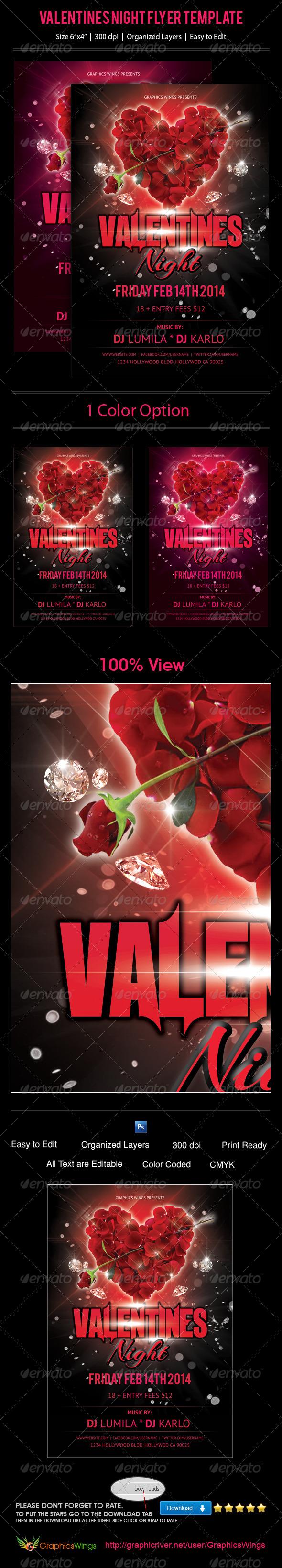 Valentines Night Flyer Template