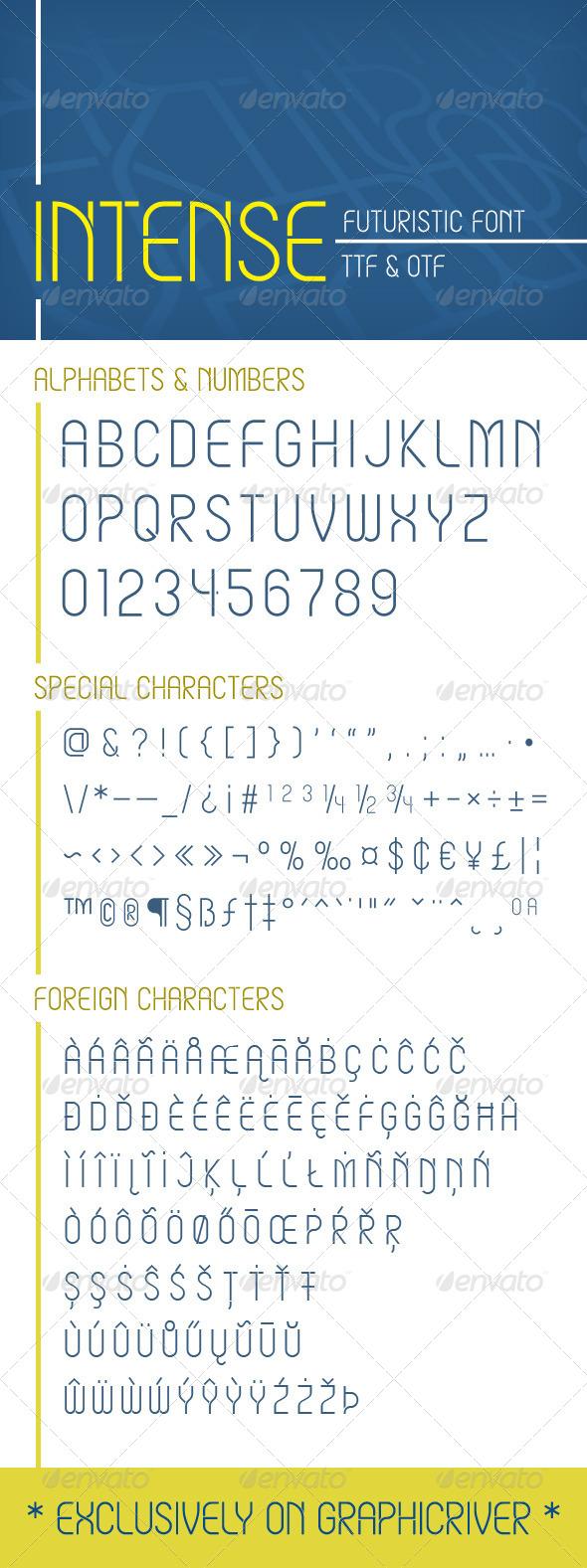 GraphicRiver Intense Font 6641639