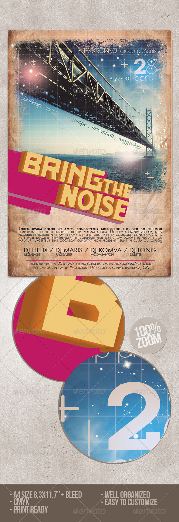GraphicRiver Bring The Noise Party Flyer 6608268
