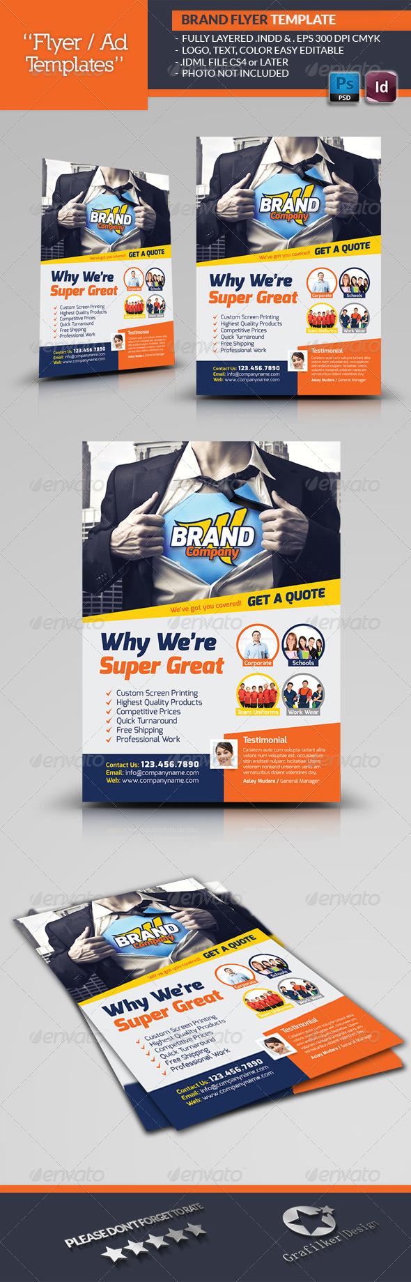 GraphicRiver Creative Brand Flyer Template 6641740