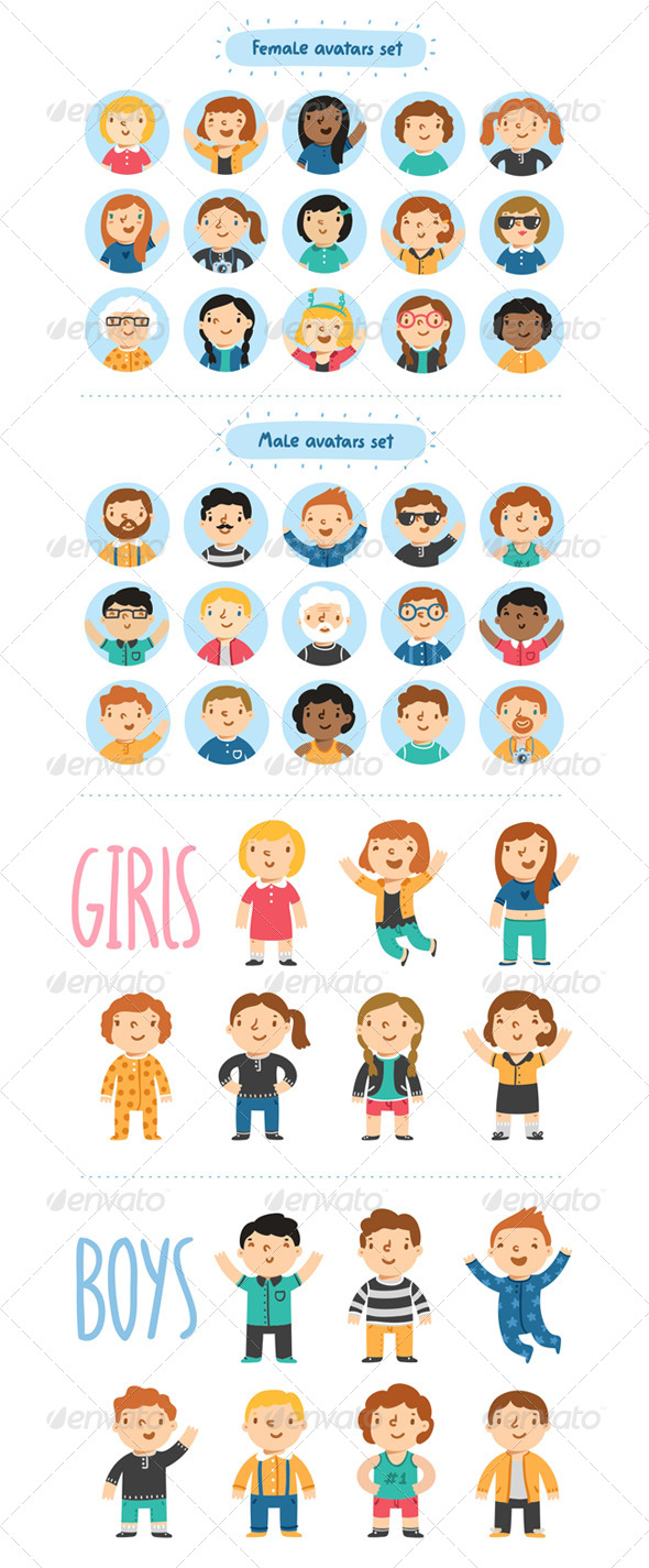 GraphicRiver Characters 6641846