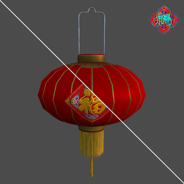 Chinese traditional Lantern E - 3DOcean Item for Sale