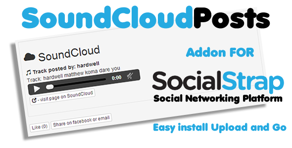 CodeCanyon SoundCloud addon for SocialStrap 6641888