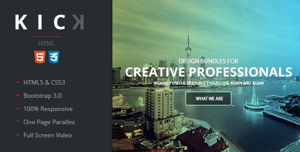 Kick - Multipurpose HTML5 Tempalte - Portfolio Creative