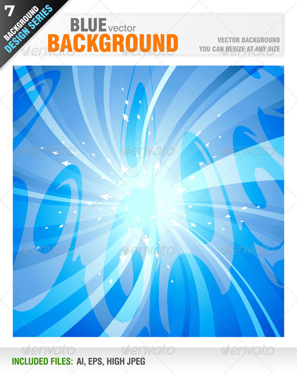 GraphicRiver Blue Vector Background 6642034