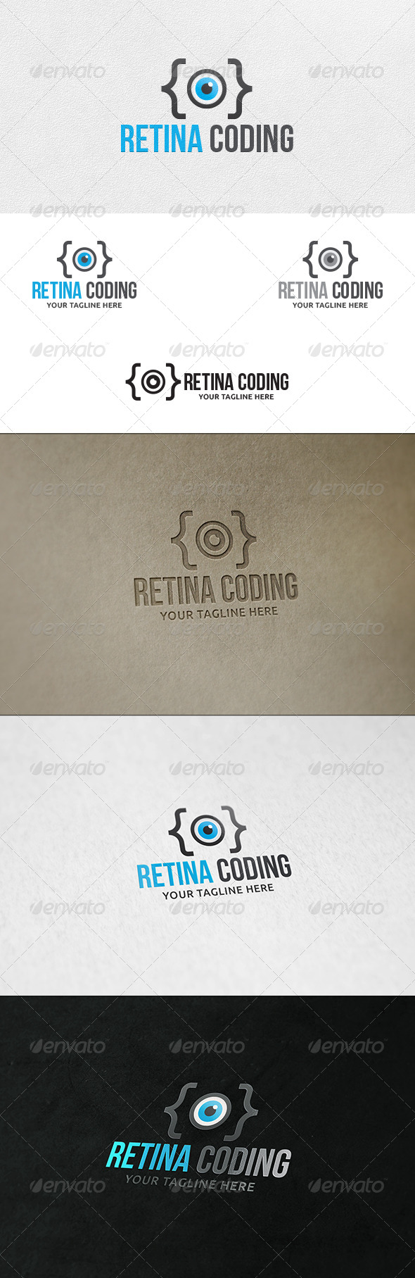 GraphicRiver Retina Coding Logo Template 6642159