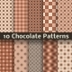 Chocolate vector seamless patterns (tiling). - GraphicRiver Item for Sale