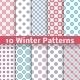 Light Winter Patterns - GraphicRiver Item for Sale