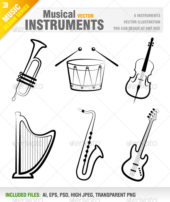 GraphicRiver Musical Instruments 6642382