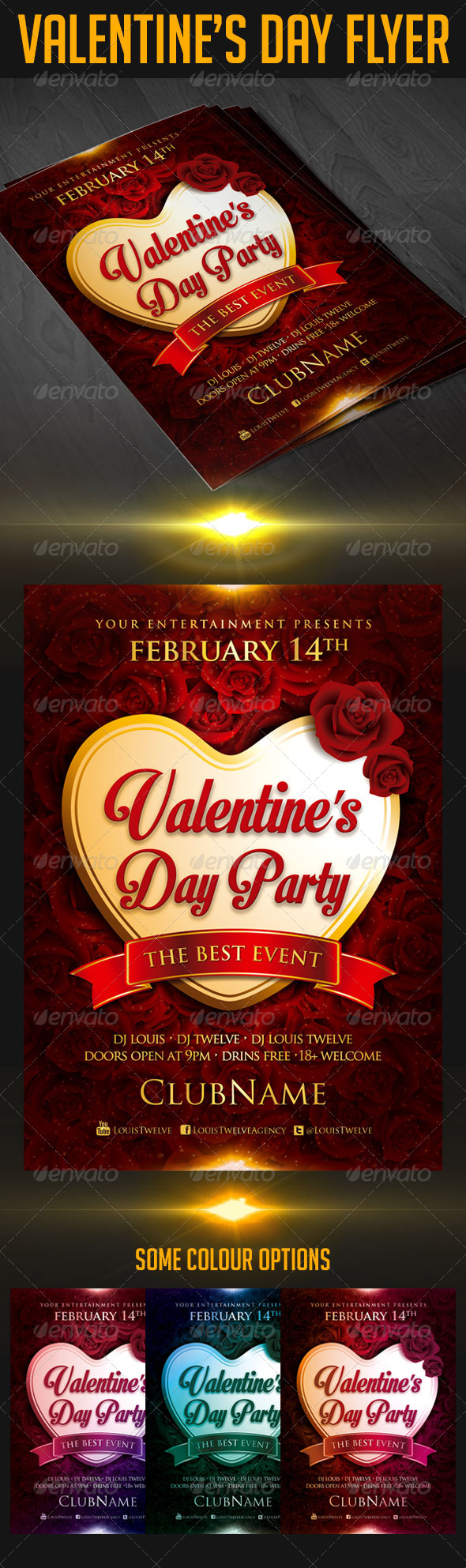 GraphicRiver Valentine s Day Party Flyer 6642384
