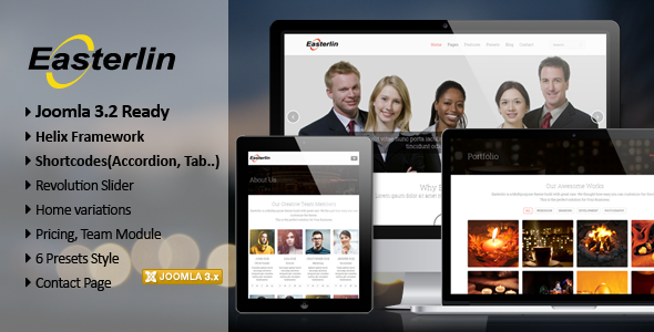 ThemeForest Easterlin Responsive Joomla Business Template 6638329