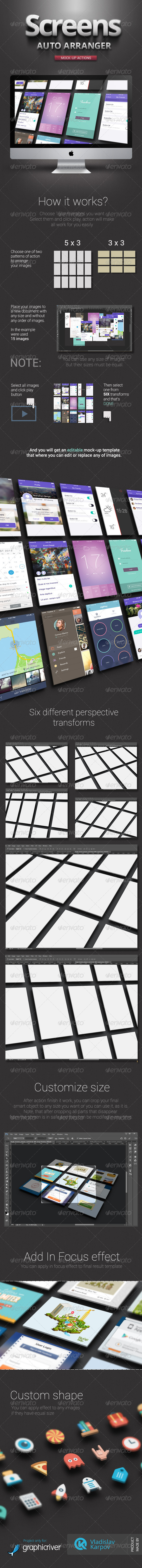 GraphicRiver Screens Auto Arranger Mock-UP actions 6642424