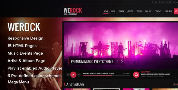 ThemeForest WeRock Music & Event Theme 6629190