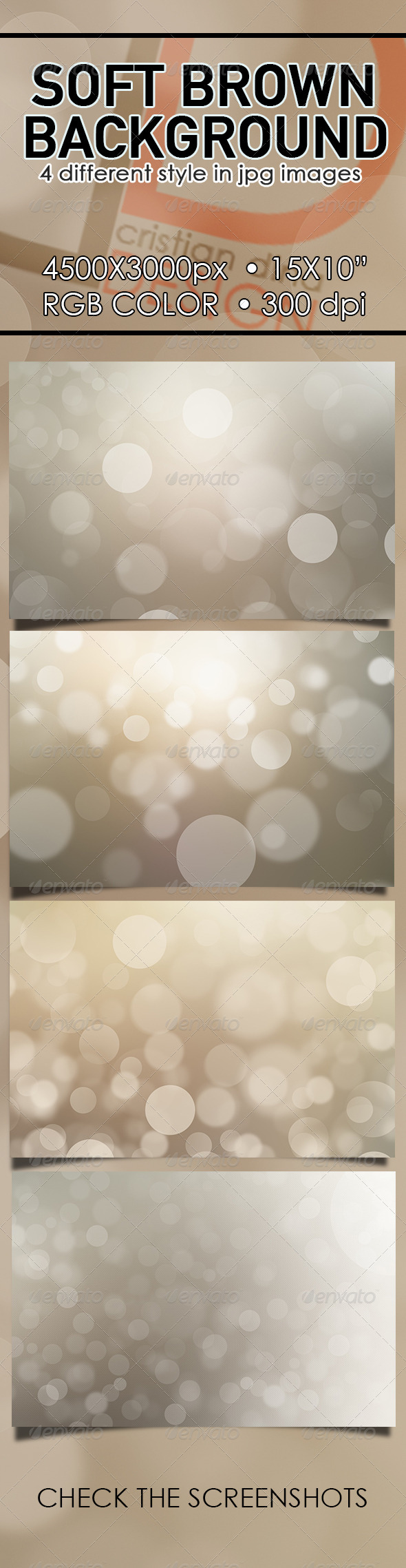 GraphicRiver Soft Brown Background 6642463