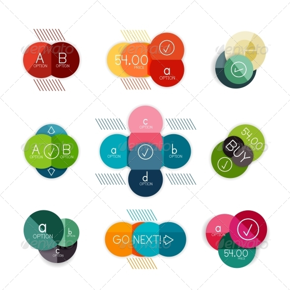 GraphicRiver Set of Circle Shaped Infograph Templates 6642765