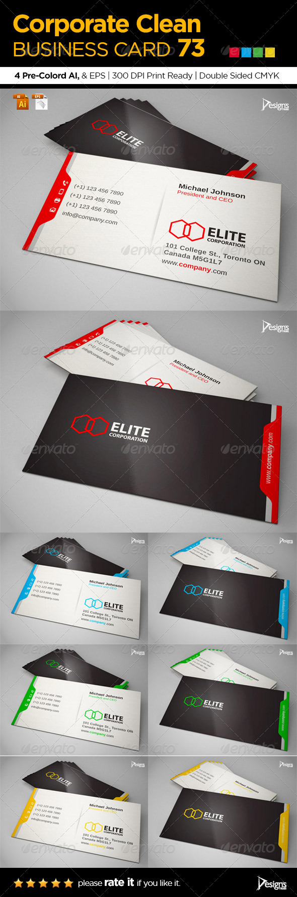 GraphicRiver Corporate Clean Business Card 73 6642948