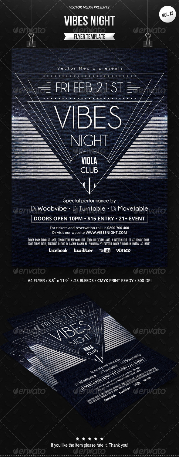 GraphicRiver Vibes Night Flyer [Vol.12] 6642956