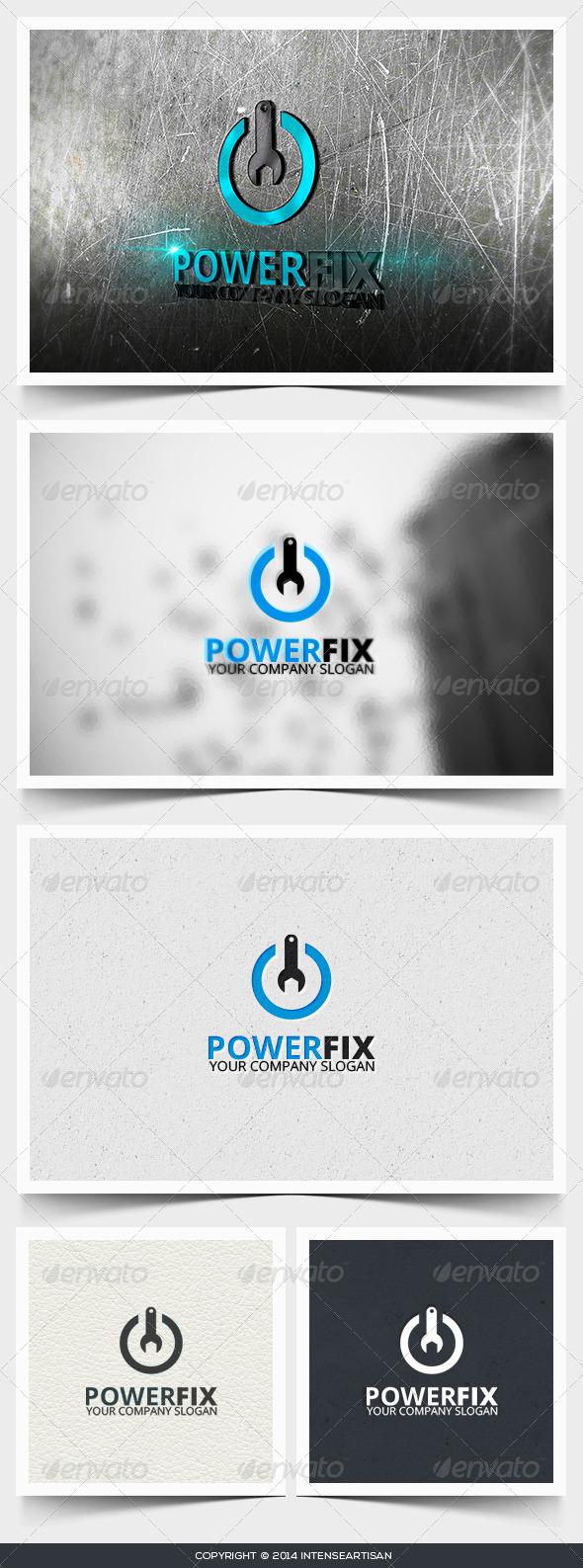 GraphicRiver Power Fix Logo Template 6642955