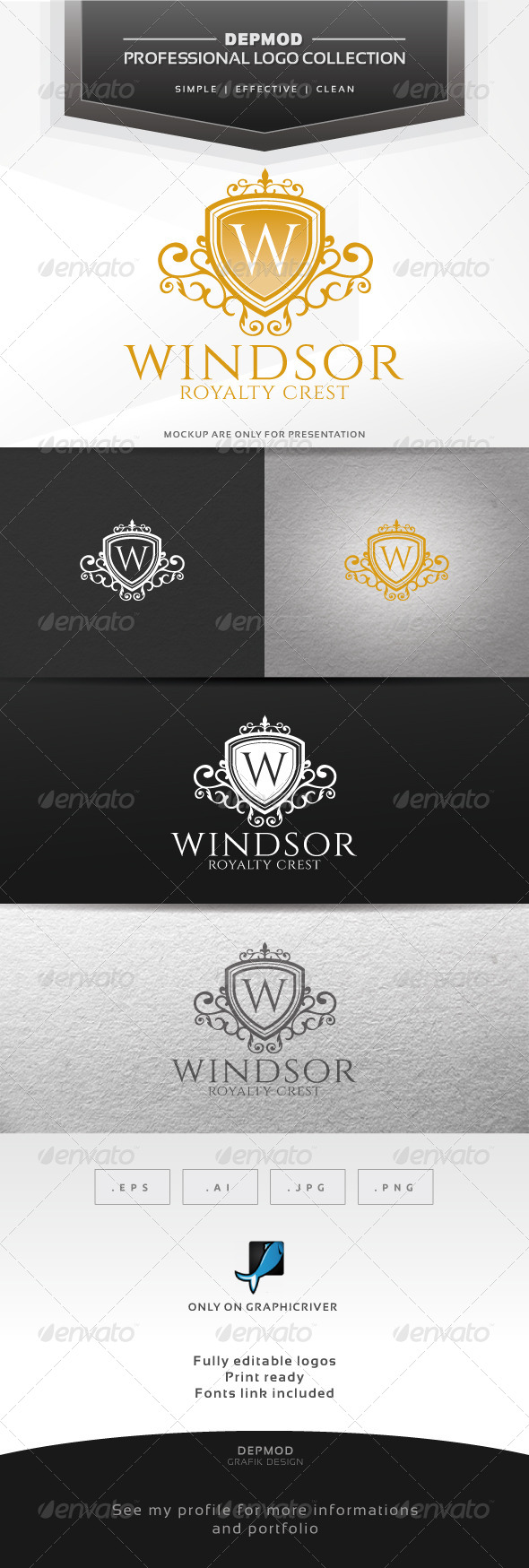 GraphicRiver Windsor Logo 6642986