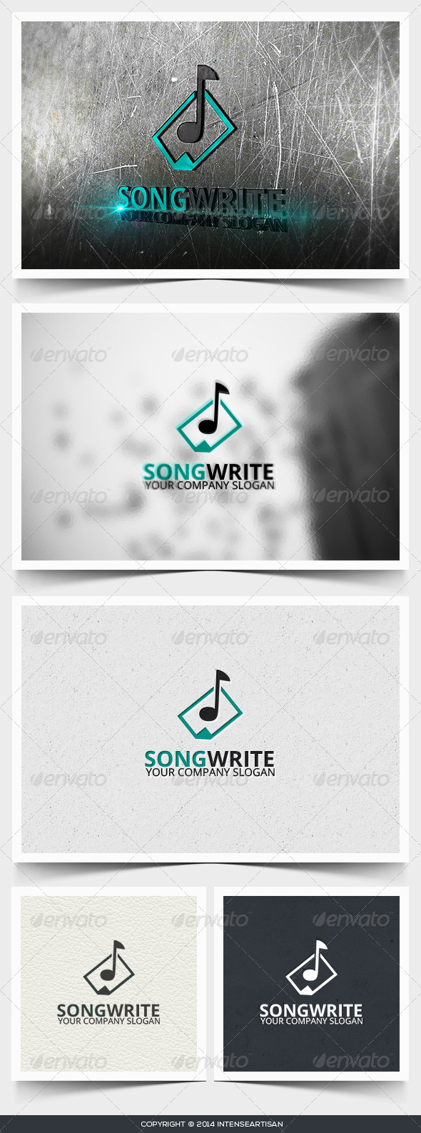 Song Write Logo Template - Objects Logo Templates