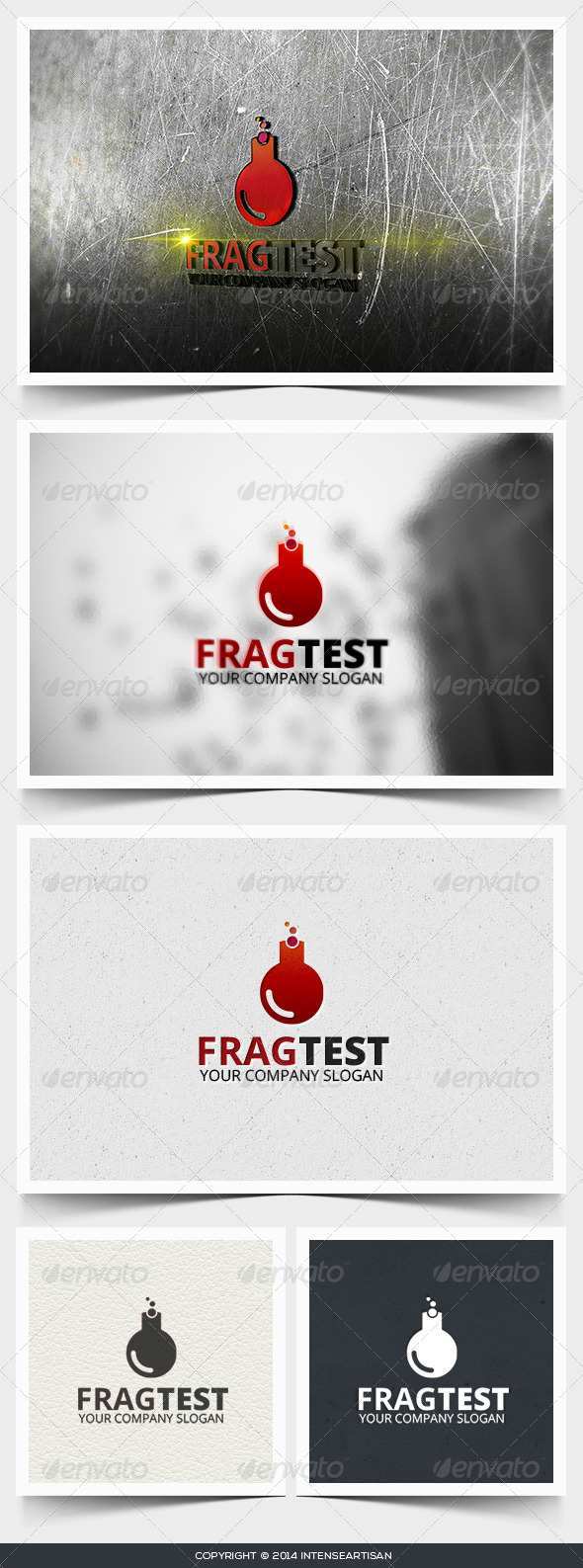 Frag Test Logo Template