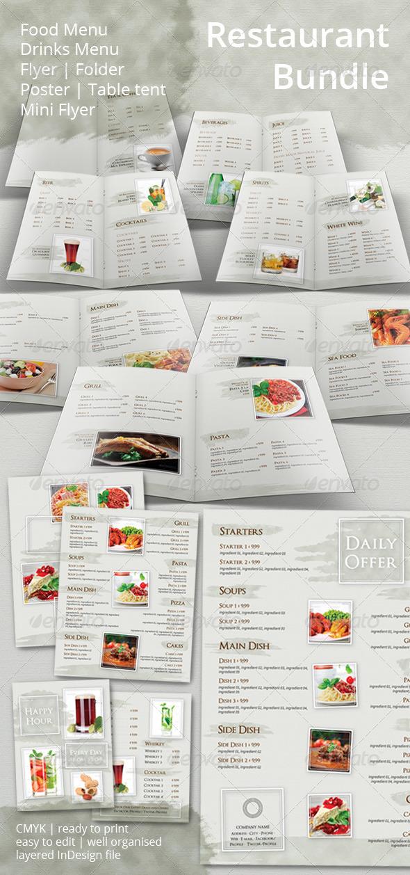 GraphicRiver Restaurant Menu and Promotional Set Bundle 6643145