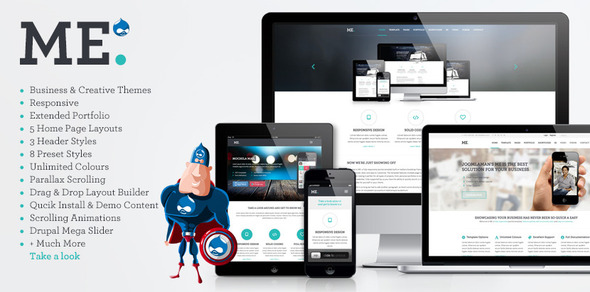 ThemeForest ME MultiPurpose Creative Drupal Theme 6643202
