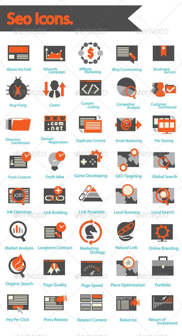 GraphicRiver SEO Icons Set 6643288