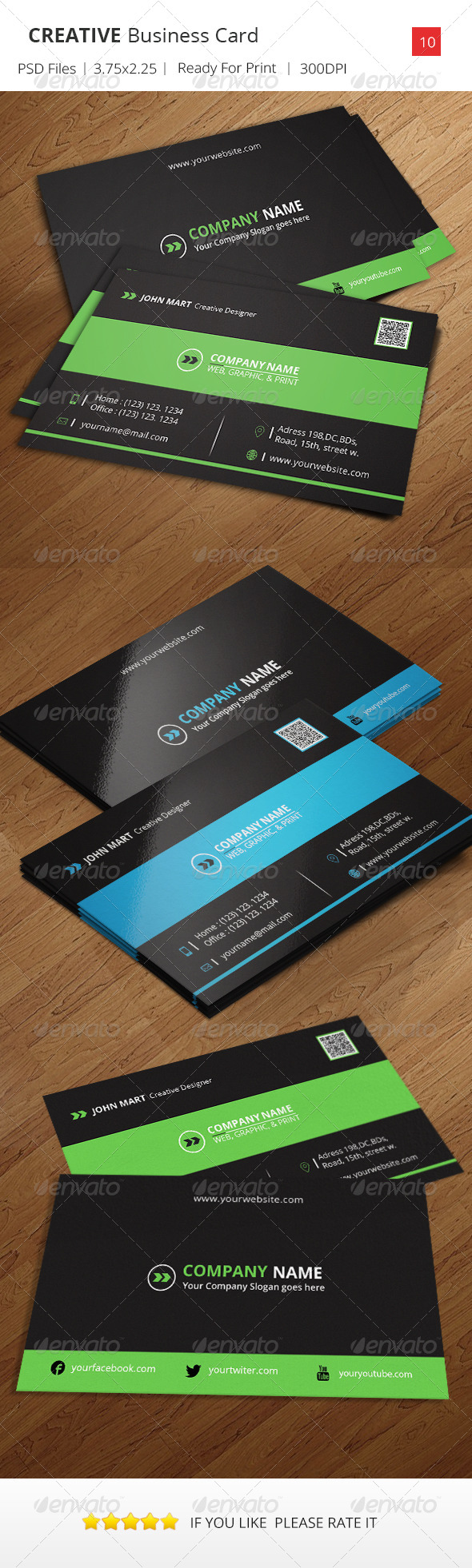 GraphicRiver Creative Business Card v.10 6643312